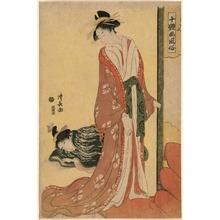 鳥居清長: Going to Bed from the series Ten Types of Beauties in Pictures (Jittai e-fuzoku) - シカゴ美術館