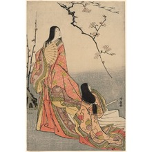 Torii Kiyonaga: Ise Watching a Flock of Geese (Kanjo Ise) - Art Institute of Chicago