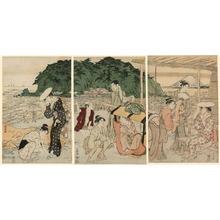 Torii Kiyonaga: Visitors to Enoshima - Art Institute of Chicago