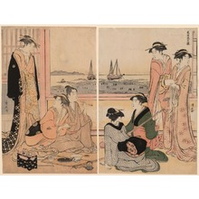 鳥居清長: The Fourth Month (Shigatsu) from the series The Twelve Months in the South (Minami juni ko) - シカゴ美術館