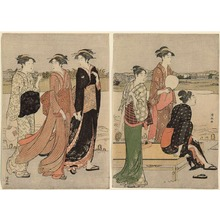 Torii Kiyonaga: Summer Twilight on the Banks of the Sumida - Art Institute of Chicago