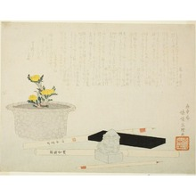 Tawaraya Sori: Still-Life with Writing Materials - シカゴ美術館