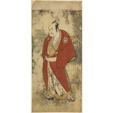 Katsukawa Shunsho: The Actor Nakamura Sukegoro II as Kaminari Shokuro in the Joruri