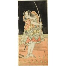 勝川春好: The Actor Nakamura Nakazo I as Danshichi Kurobei in Act Eight of the Play Natsu Matsuri Naniwa Kagami (Mirror of Osaka in the Summer Festival), Performed at the Morita Theater from the Seventeenth Day of the Seventh Month, 1779 - シカゴ美術館