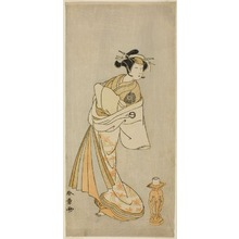 Katsukawa Shunsho: The Actor Nakamura Noshio I as the Spirit of the Courtesan Takao, in the Shosagoto Dance Sequence