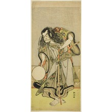 Katsukawa Shunko: The Actor Nakamura Nakazo I as Monk Shunkan in the Play Hime Komatsu Ne no Hi Asobi (Outing to Pick Pine Seedlings on the Rat-Day of the New Year), Performed as the Last Act of Part Two at the Ichimura Theater in the Seventh Month, 1778 - Art Institute of Chicago
