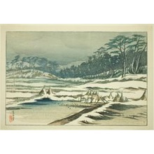 伊東深水: After the Snow Falls - シカゴ美術館