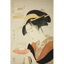 喜多川歌麿: Six Reknowned Beauties (Kômei bijin rokkasen) : Naniwaya Okita - シカゴ美術館