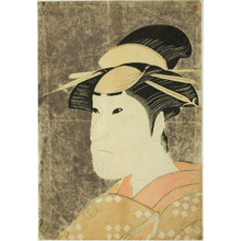 Katsukawa Shun'ei: Bust Portrait of Sanogawa Ichimatsu III as the Gion Prostitute Onayo in the play Hana-ayame Bunroku Soga, Performed at the Miyako Theater in the Fifth Month, 1794 - Art Institute of Chicago