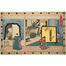 Utagawa Hiroshige: Scene from Act II of The Revenge of the Loyal Retainers - Art Institute of Chicago