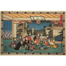 Utagawa Hiroshige: Scene from Act VII of The Revenge of the Loyal Retainers - Art Institute of Chicago
