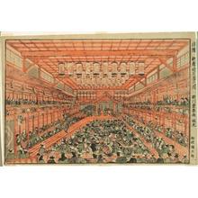 歌川豊春: The Interior of a Kabuki Theater (Ukie Kabuki shibai no zu) - シカゴ美術館