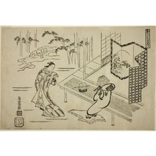 Torii Kiyomasu I: Two Actors in a Drama - Art Institute of Chicago
