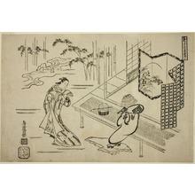鳥居清倍: Two Actors in a Drama - シカゴ美術館
