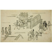 Hishikawa Moronobu: Scene in the Yoshiwara, from the series