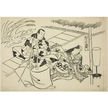 Okumura Masanobu: Courting Komachi (Kayoi Komachi), from the series