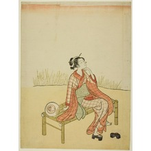Suzuki Harunobu: By the Stream - Art Institute of Chicago