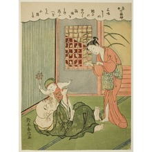 Suzuki Harunobu: Hotei, from the series