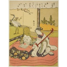 Suzuki Harunobu: Fukurokuju with Geisha, from the series