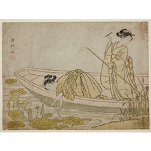 Suzuki Harunobu: Two Beauties Picking Lotuses - Art Institute of Chicago