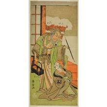 Katsukawa Shunsho: The Actors Nakamura Utaemon I as Karashi Baba (right), and Ichikawa Danjuro IV as Sanshodayu (left), in the Play Kawaranu Hanasakae Hachi no Ki, Performed at the Nakamura Theater in the Eleventh Month, 1769 - Art Institute of Chicago