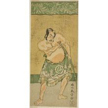 Katsukawa Shunsho: The Actor Nakamura Sukegoro II as the Sumo Wrestler Matano no Goro in the Play Myoto-giku Izu no Kisewata, Performed at the Ichimura Theater in the Eleventh Month, 1770 - Art Institute of Chicago