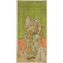 勝川春章: The Actor Nakamura Nakazo I as Hige no Ikyu in the Play Sakai-cho Soga Nendaiki, Performed at the Nakamura Theater in the Third Month, 1771 - シカゴ美術館