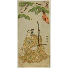 勝川春章: The Actor Arashi Sangoro II as Sakura-maru in the Play Sugawara Denju Tenarai Kagami, Performed at the Ichimura Theater in the First Month, 1772 - シカゴ美術館