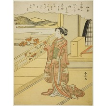 Suzuki Harunobu: Waiting - Art Institute of Chicago