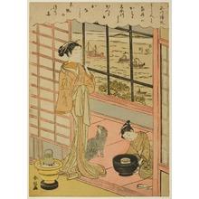 鈴木春信: Retuning Sails at Shinagawa - シカゴ美術館