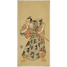 勝川春章: The Actor Ichikawa Danzo III as Fuwa Banazemon in the Play Date Moyo Kumo ni Inazuma, Performed at the Morita Theater in the Tenth Month, 1768 - シカゴ美術館