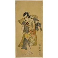 Katsukawa Shunsho: The Actor Nakamura Utaemon I as Kudo Suketsune Disguised as a Beggar in the Play Soga Moyo Aigo no Wakamatsu, Performed at the Nakamura Theater in the First Month, 1769 - Art Institute of Chicago
