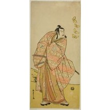 Katsukawa Shunsho: The Actor Otani Hiroji III as Makino Arataro Tokizumi in the Play Hana no O-Edo Masakado Matsuri, Performed at the Ichimura Theater in the Eleventh Month, 1789 - Art Institute of Chicago
