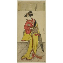Katsukawa Shunsho: The Actor Iwai Hanshiro IV as Osuwa in the Play Koi no Yosuga Kanagaki Soga, Performed at the Ichimura Theater in the Fourth Monther, 1789 - Art Institute of Chicago