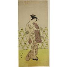 Katsukawa Shunsho: The Actor Nakamura Riko I as Hakata no Kojoro (?) in the Play Shitenno-ji Nobori Kuyo, Performed at the Ichimura Theater in the Eighth Month, 1773 - Art Institute of Chicago