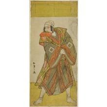 Katsukawa Shunsho: The Actor Ichikawa Danjuro V as Prince Koretaka Disguised as the Courier Izutsu Chuji, in the Play Yamato Kano Ariwara Keizu, Performed at the Nakamura Theater in the Fifth Month, 1781 - Art Institute of Chicago