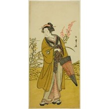 Katsukawa Shunsho: The Actor Otani Tomoemon I as Otsuma in the Play Kabuki no Hana Bandai Soga, Performed at the Ichimura Theater in the Fourth Month, 1781 - Art Institute of Chicago