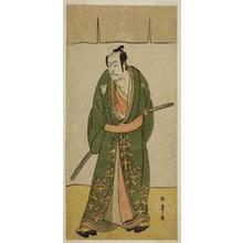 勝川春章: The Actor Ichikawa Danjuro V as Gokuin Sen'emon in the Play Hatsumombi Kuruwa Soga, Performed at the Nakamura Theater in the Second Month, 1780 - シカゴ美術館