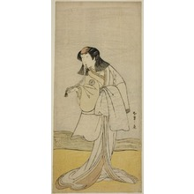 勝川春章: The Actor Segawa Kikunojo III as Miura no Katagai Disuigsed as the Nun Narukami, in the Play Ume-goyomi Akebono Soga, Performed at the Ichimura Theater in the Second Month, 1780 - シカゴ美術館