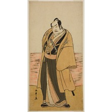 Katsukawa Shunsho: The Actor Nakamura Sukegoro II as Kaminari Shokuro in the Play Hatsumombi Kuruwa Soga, Performed at the Nakamura Theater in the Second Month, 1780 - Art Institute of Chicago