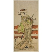 Katsukawa Shunsho: The Actor Onoe Kikugoro I as Tonase in the Play Kanadehon Chushin Nagori no Kura, Performed at the Nakamura Theater in the Ninth Month, 1780 - Art Institute of Chicago