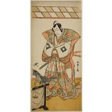 勝川春章: The Actor Ichikawa Danjuro V as Ashikaga Takauji in the Play Kaeribana Eiyu Taiheiki, Performed at the Nakamura Theater in the Eleventh Month, 1779 - シカゴ美術館