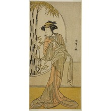 勝川春章: The Actor Tsuneyo II as Okaru in the Play Kanadehon Chushingura, Performed at the Morita Theater in the Eighth Month, 1779 - シカゴ美術館