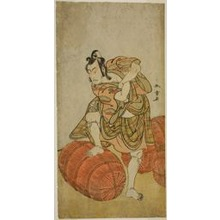 勝川春章: The Actor Matsumoto Koshiro IV as Matsuo-maru in the Play Sugawara Denju Tenarai Kagami, Performed at the Nakamura Theater in the Fourth Month, 1779 - シカゴ美術館