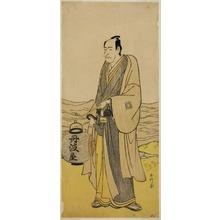 Katsukawa Shunko: The Actor Ichikawa Danjuro V as Tambaya Suketaro in the Play On'ureshiku Zonji Soga, Performed at the Ichimura Theater in the Second Month, 1790 - Art Institute of Chicago