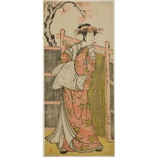 Katsukawa Shunko: The Actor Sawamura Sojuro III as the Spirit of the Courtesan Takao in the Play Takao Daimyojin Momiji no Tamagaki, Performed at the Nakamura Theater in the Seventh Month, 1787 - Art Institute of Chicago