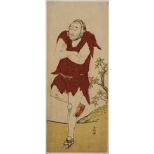 勝川春好: The Actor Onoe Matsusuke I as a Mendicant Monk (Gannin Bozu) in the Play Keisei Ide no Yamabuki, Performed at the Nakamura Theater in the Fifth Month, 1787 - シカゴ美術館