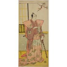 Katsukawa Shunko: The Actor Ichikawa Omezo I as Koyurugi Motomenosuke (?) in the Play Haru no Nishiki Date-zome Soga (?), Performed at the Nakamura Theater (?) in the First Month, 1790 (?) - Art Institute of Chicago