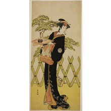 Katsukawa Shunko: The Actor Segawa Tomisaburo II as Lady Masago (Masago Gozen) (?) in the Play Genji Saiko Kogane no Tachibana (?), Performed at the Ichimura Theater (?) in the Eleventh Month, 1788 (?) - Art Institute of Chicago