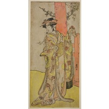 勝川春好: The Actor Iwai Hanshiro IV as Kitsune ga Saki Otama (?) in the Play Miyakodori Yayoi no Watashi (?), Performed at the Kiri Theater (?) in the Third Month, 1787 (?) - シカゴ美術館